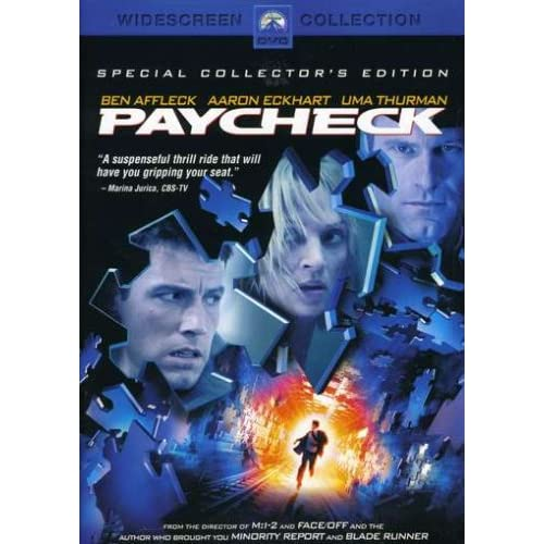 Image 0 of Paycheck Special Edition On DVD With Ben Affleck Mystery