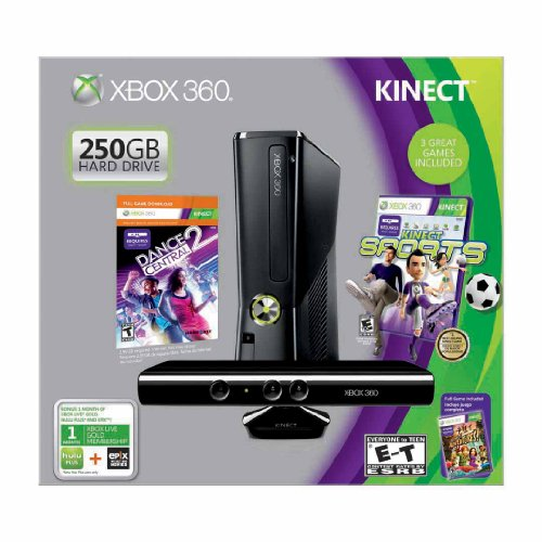 Image 0 of Xbox 360 250GB With Kinect Holiday Value Bundle