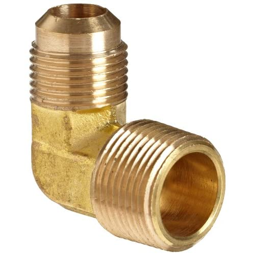 Anderson metals brass tube fitting degree elbow flare