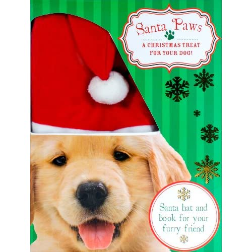 Santa Paws Book With A Santa Dog Hat For Dogs