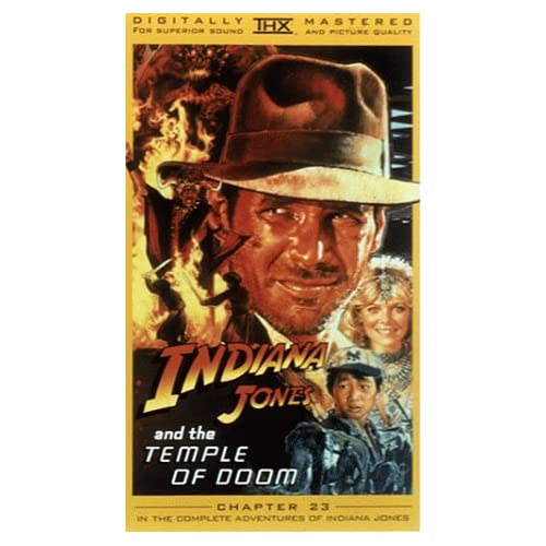 Indiana Jones And The Temple Of Doom On VHS With Harrison Ford
