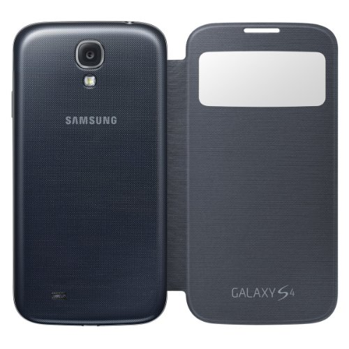 Image 2 of Samsung Galaxy S4 S-View Flip Cover Folio Case Black