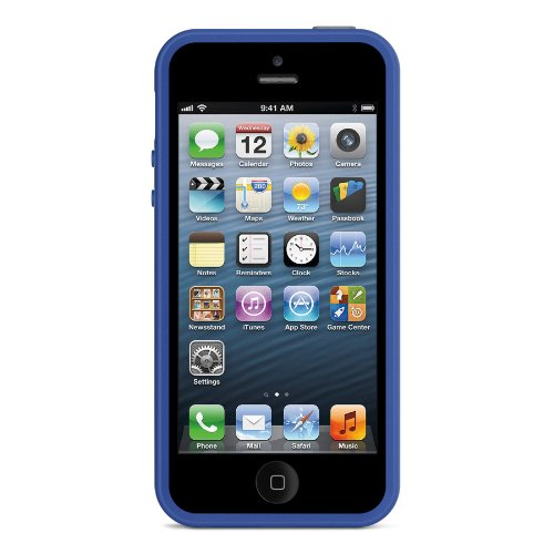 Image 2 of Belkin Grip Max Case Cover For iPhone 5 5S SE Gray / Blue