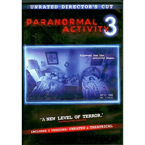Image 0 of Paranormal Activity 3: Unrated Director's Cut On Blu-Ray