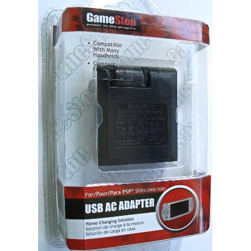 USB AC Adapter For The Sony PSP Wall Power Charger to DC M1BB313