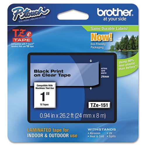 Brother 1 Tze Tape 24MM Black On Clear