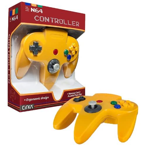 Image 0 of N64 Wired Classic Controller Yellow