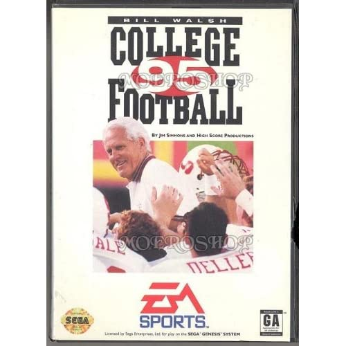 Bill Walsh College Football '95 For Sega Genesis Vintage With Manual and Case
