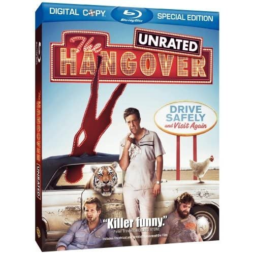 Image 0 of The Hangover Unrated Edition Blu-Ray On Blu-Ray With Bradley Cooper Comedy