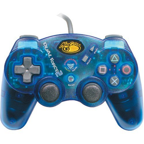 Image 0 of Madcatz Dual Force 2 Pro Advanced Analog Controller For PlayStation 2 PS2 Blue M