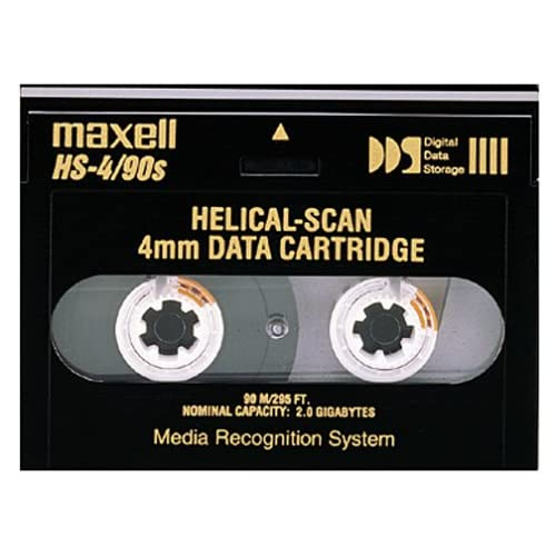 Image 0 of Maxell 2.0GB 91.5M HS-4/90S 4MM Data Cartridge For Helical Scan Drives 1-pack On