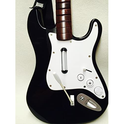 Image 0 of Rock Band 2 Wireless Guitar Fender Stratocaster Brown Neck For Wii Black nwgts2