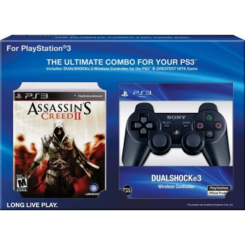 Assassin's Creed 2 With Dualshock 3 Bundle Black PlayStation 3