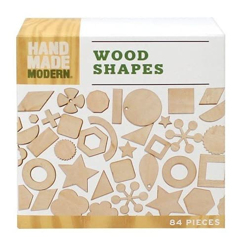 Hand Made Modern Wooden Diecut Shapes