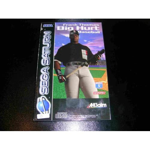 Frank Thomas Big Hurt Baseball For Sega Saturn Vintage