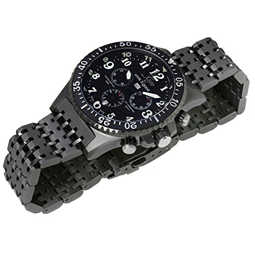 Men 39 s watches xezo men 39 s air commando swiss quartz chronograph diver 39 s watch d45 b for sale in for Xezo watches