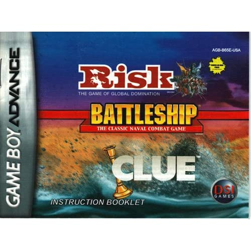 Image 0 of Risk / Battleship / Clue GBA Game Boy Advance Only No Game Nintendo Game Boy Adv
