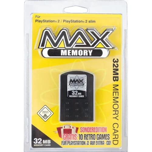Datel Max Memory 32 MB Sony Memory Card Black For PlayStation 2 PS2