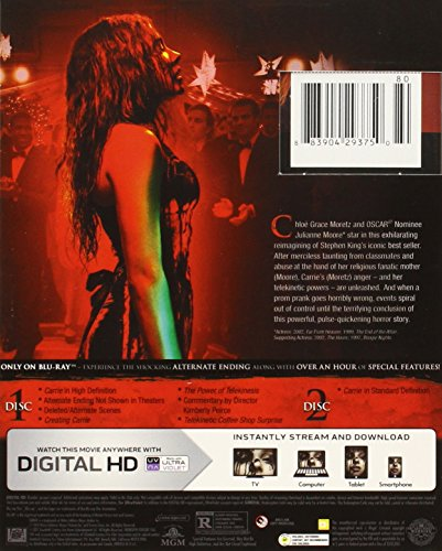 movies carrie blu ray dvd digital hd with ultraviolet for sale in johannesburg id. Black Bedroom Furniture Sets. Home Design Ideas