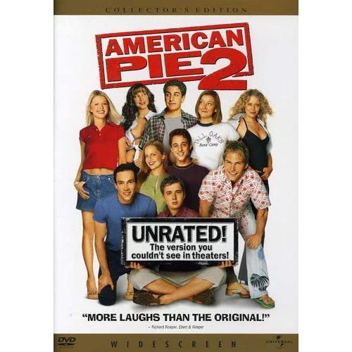 American Pie 2 Unrated Widescreen Edition On DVD With Jason Biggs