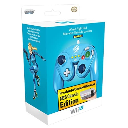 Fight Pad Controller Zero Suit Samus For Wii U Blue FGC032