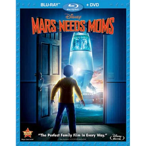 Image 0 of Mars Needs Moms Two-Disc / DVD Combo On Blu-Ray With Seth Green 2 Disney Anime