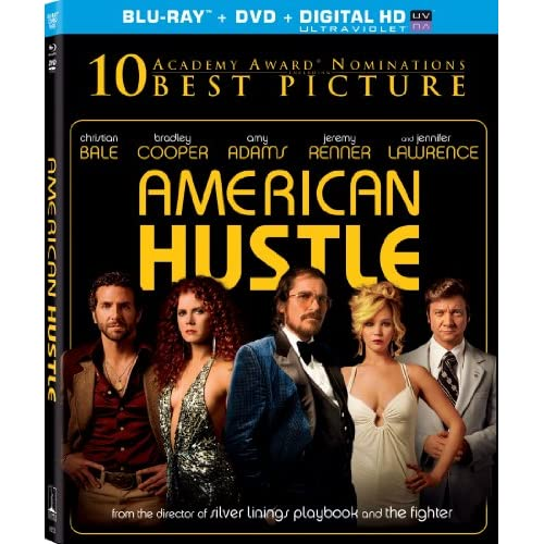 American Hustle Blu-Ray On Blu-Ray With Christian Bale Drama