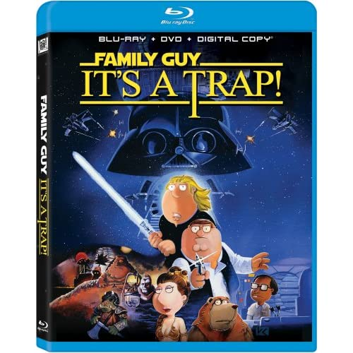 Family Guy: It's A Trap! Blu-Ray/ DVD On Blu-Ray With Carrie Fisher