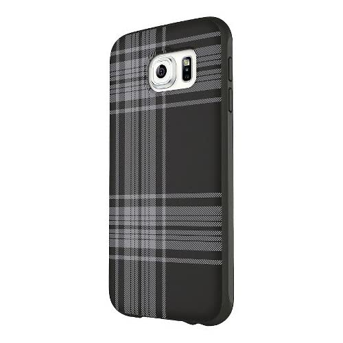 Belkin Galaxy S6 Phone Protector Black Gray Plaid Black Plaid Case Cover Grey