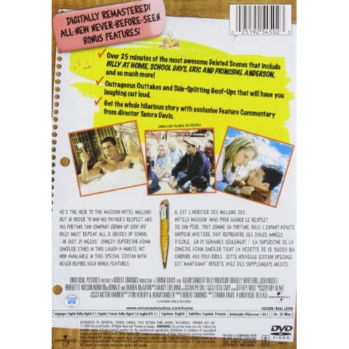 Image 3 of Billy Madison Widescreen Special Edition On DVD With Adam Sandler