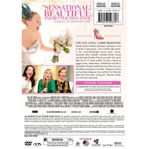 Image 3 of Sex And The City: The Movie Single-Disc Widescreen Edition On DVD With