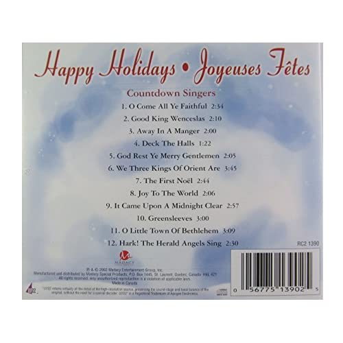Image 2 of Happy Holidays Joyeuses Fetes By Countdown Singers On Audio CD Album