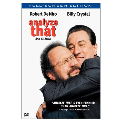 Image 0 of Analyze That Full Screen On DVD With Robert De Niro Comedy