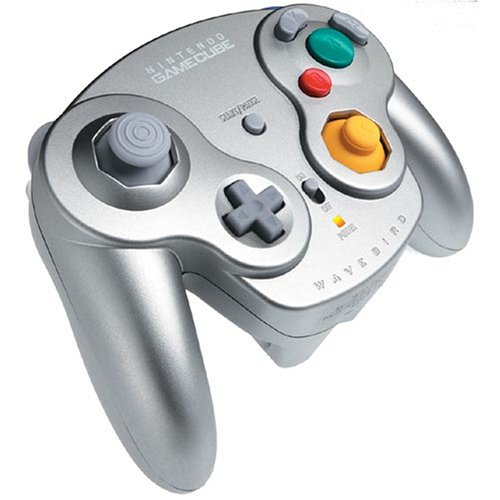 Image 0 of Wavebird OEM Wireless Controller Platinum With Receiver For GameCube And Wii Rem