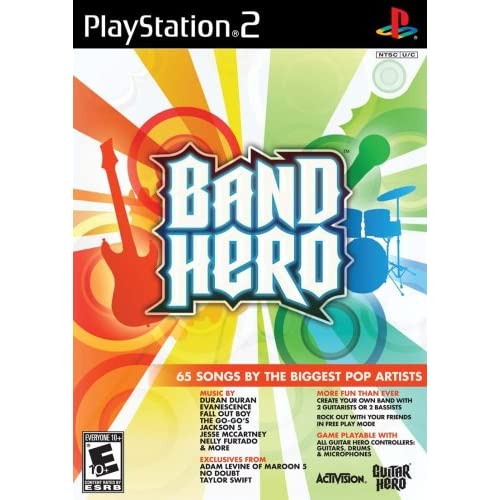 Band Hero Stand Alone Software For PlayStation 2 PS2 Music