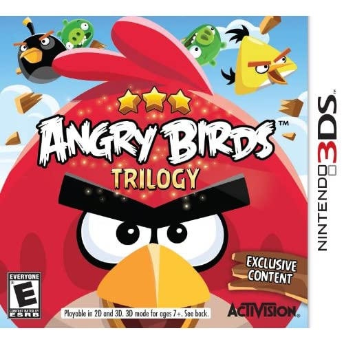Angry Birds Trilogy Nintendo For 3DS Puzzle With Manual and Case