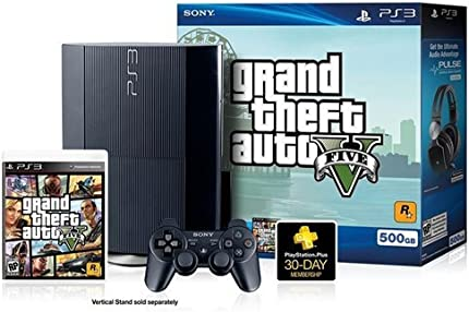 Image 1 of Sony PlayStation PS3 500GB GTA V Bundle 99238