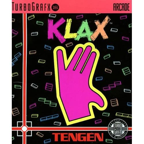 Klax For Turbo Grafx 16 Vintage Puzzle