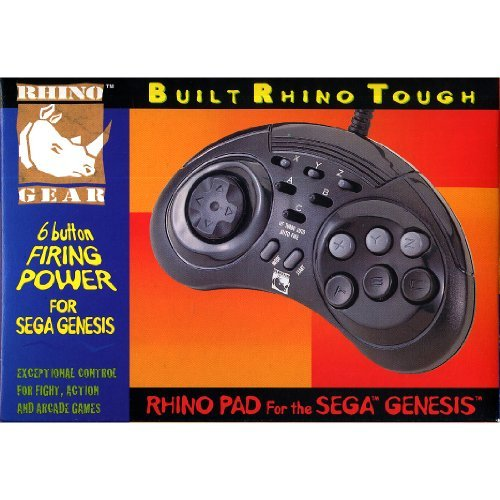 Controller Rhino Pad 6 Buttons With Turbo Fire Feature For Sega Genesis Vintage