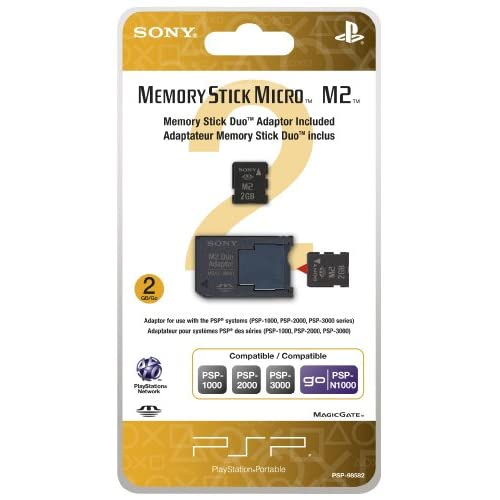 2GB Memory Stick Micro Media M2 Duo Adaptor Sony For GBA Gameboy Advance For PSP