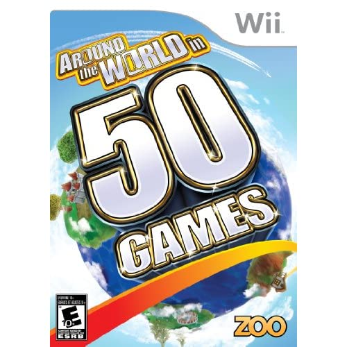 Around The World In 50 Games For Wii With Manual and Case