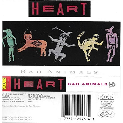 Image 0 of Bad Animals By Heart On Audio Cassette