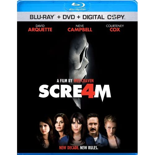 Image 0 of Scream 4 DVD Digital Copy On Blu-Ray With David Arquette
