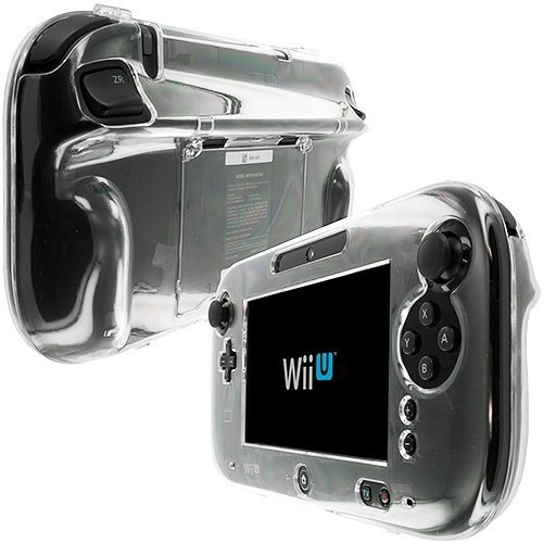 Clear Crystal Hard Skin Case Cover For Gamepad Controller For Wii U Protective E