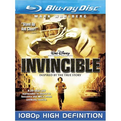 Invincible Blu-Ray On Blu-Ray With Mark Wahlberg