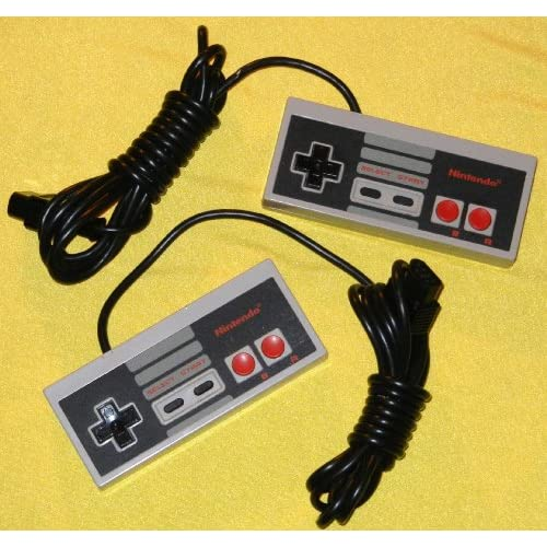 Image 0 of NES Controller Pair 2 Two Nintendo OEM Original 1985