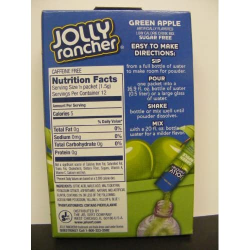 1 6 Ct Box Jolly Rancher Green Apple Singles To Go