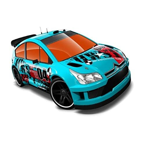 Hot Wheels Citroen C4 Rally Blue #04 Thrill Racers City Stunt 12 - 3/5 - 198/247