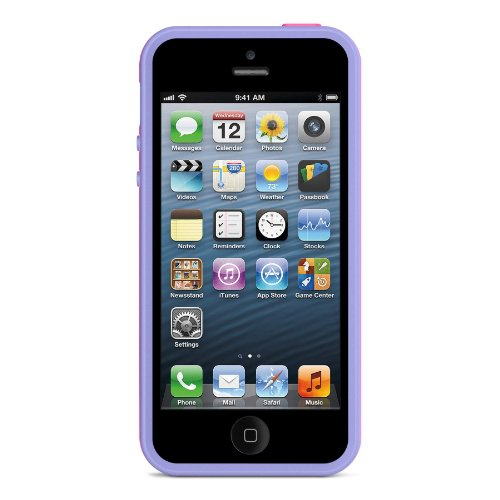Image 3 of Belkin Grip Max Case Cover For iPhone 5 5S SE Pink / Lavender Fitted
