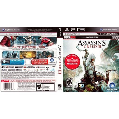 Assassin's Creed III Gamestop Edition For PlayStation 3 PS3